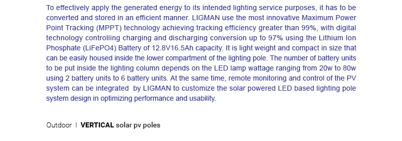 LIGMAN Vertical Solar Panel Lighting Poles 03-1
