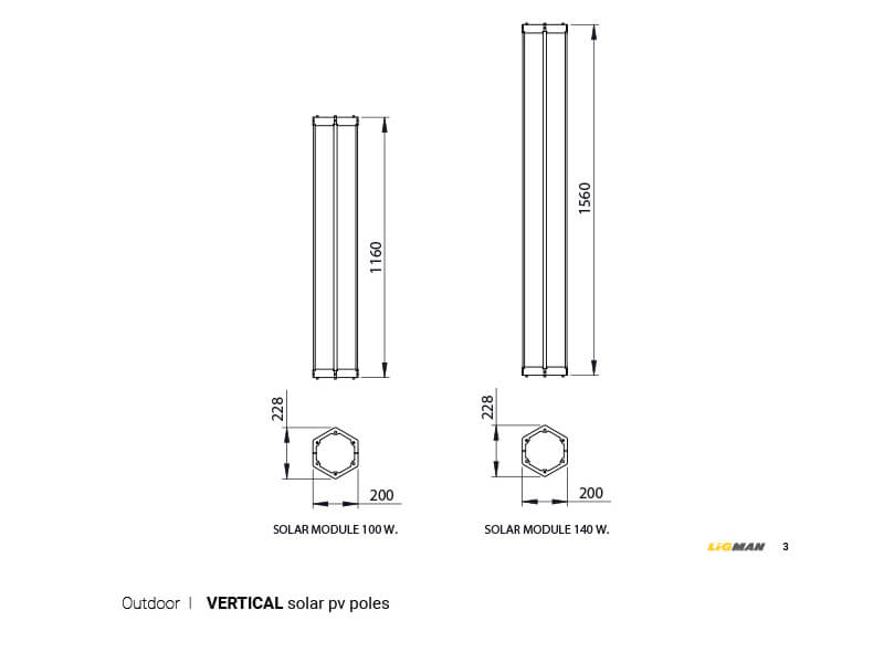 LIGMAN Vertical Solar Panel Lighting Poles 05-1