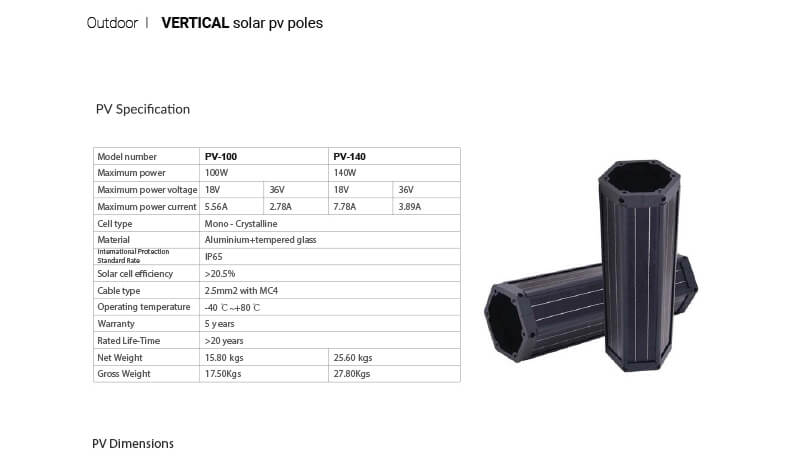 LIGMAN Vertical Solar Panel Lighting Poles 05